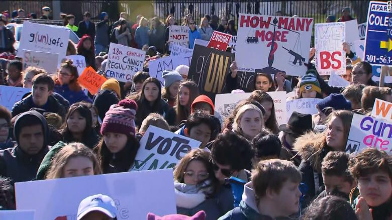 Watch students walk out of schools across US