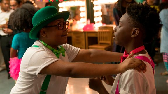 Shamon Brown as Papa and Alex Hibbert as Kevin in 'The Chi.'