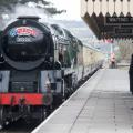 Cheltenham Festival day two Ladies day steam train