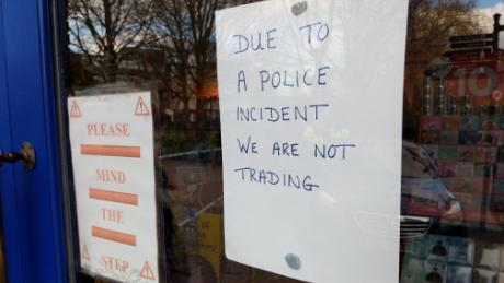 A Salisbury shop is closed for business as a result of the ongoing police investigation.