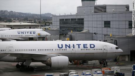 United Airlines planes at San Francisco International Airport.
