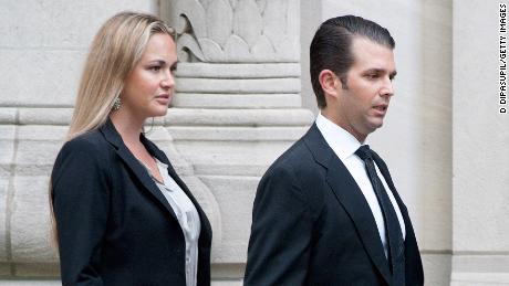 NEW YORK, NY - SEPTEMBER 07:  Donald Trump Jr. (R) and wife Vanessa Trump attend the Joan Rivers memorial service at Temple Emanu-El on September 7, 2014 in New York City. Rivers passed away on September 4, 2014 after suffering respiratory and cardiac arrest during vocal cord surgery on August 28, 2014.  (Photo by D Dipasupil/Getty Images)