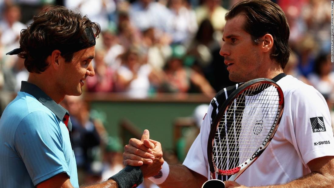The next day Federer felt the pressure -- his big rival was gone and now he was the favorite -- and almost lost to friend Tommy Haas.