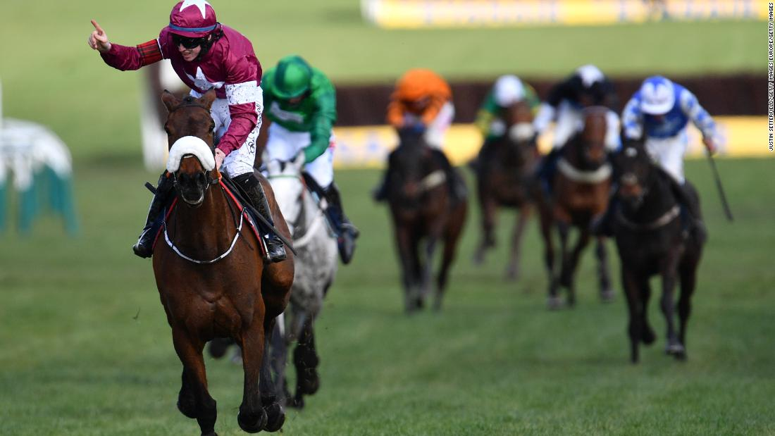 <strong>Triumphant teen: </strong>Kennedy secured another win at Cheltenham Thursday, riding Shattered Love to victory in the JLT Novices' Hurdle.
