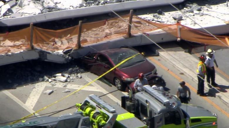She drove under bridge moments before collapse