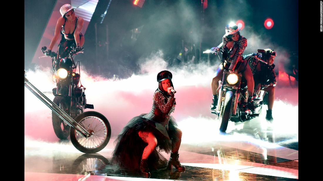 Rapper Cardi B performs during the iHeartRadio Music Awards on Sunday, March 11.