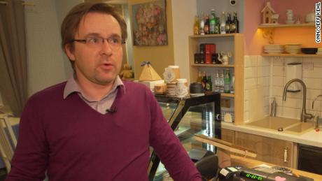 Pavel Pereverzev, who owns the Russian Babooshka bakery in Riga.