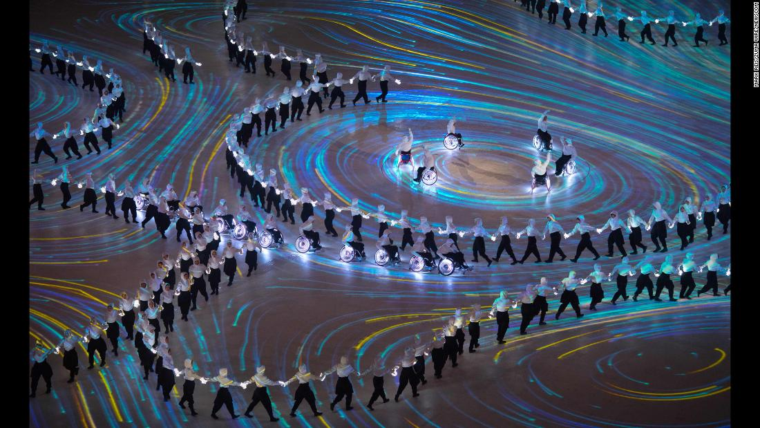 "Performers take part in the opening ceremony of the Winter Paralympic Games on Friday, March 9. The Paralympics are taking place in Pyeongchang, South Korea. <a href=""http://www.cnn.com/2018/03/08/world/gallery/week-in-photos-0309/index.html"" target=""_blank"">See last week in 26 photos</a>"