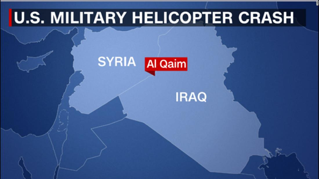 US military helicopter crashes in Iraq
