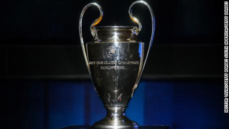 MEXICO CITY, MEXICO - MARCH 09: UEFA Champions League Trophy is displayed during the UEFA Champions League Trophy Tour presented by Heineken on March 09, 2017 in Mexico City, Mexico. (Photo by Hector Vivas/Getty Images)