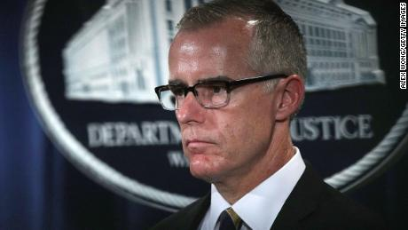 WASHINGTON, DC - JULY 13:  Acting FBI Director Andrew McCabe listens during a news conference to announce significant law enforcement actions July 13, 2017 at the Justice Department in Washington, DC. Attorney General Jeff Sessions held the news conference to announce the 2017 health care fraud takedown.  (Photo by Alex Wong/Getty Images)