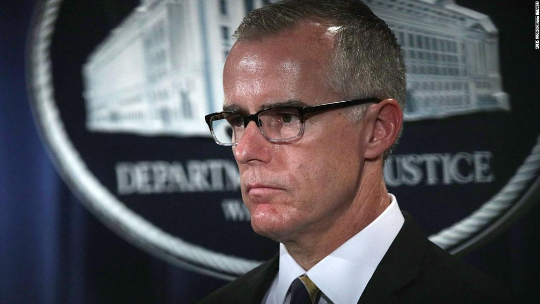 Ex-FBI Deputy Director Andrew McCabe is fired -- and fires back