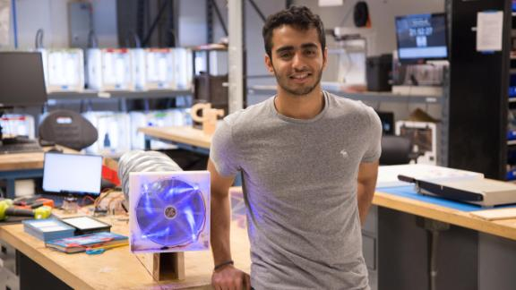 Angad Daryani, from Mumbai, left school in the ninth grade and then self-educated while working with MIT Media Lab until the age of 17. Now an undergraduate at the Georgia Institute of Technology, he is developing an industrial-scale air filter to remove the pollutants and carcinogens that plague modern cities.