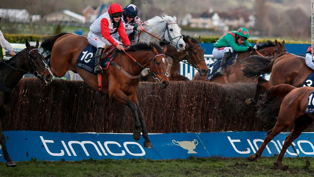 <strong>Pain barrier:  </strong>Teenage jockey Harriet Tucker said she dislocated her shoulder on the final jump on Pacha du Polder in the Foxhunter Chase. That didn't stop her holding out for her first ever Cheltenham victory and second in a row for the horse.