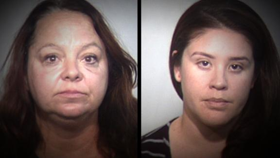 Two women were arrested after allegedly stealing items from a mosque and broadcasting the whole episode on Facebook Live, police say.