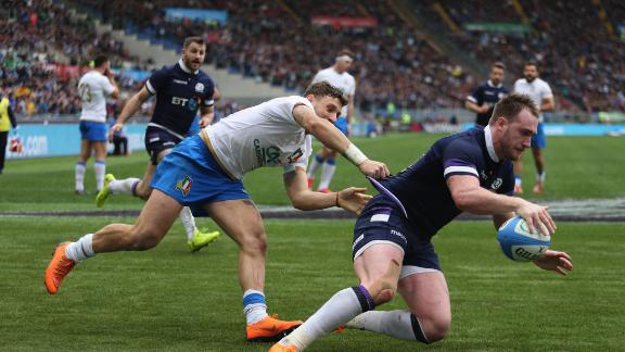 Stuart Hogg put the visitors ahead late in the game, but it required Laidlaw's boot in the dying moments to secure the win.