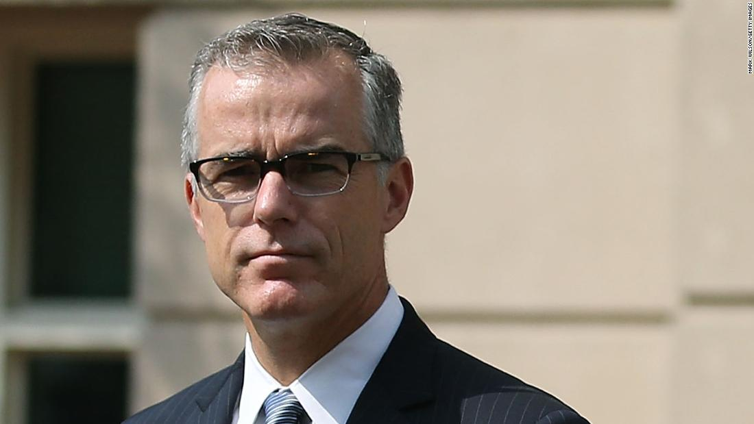 McCabe sues Justice, FBI for materials related to his firing