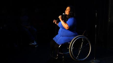 After losing her feet in a tragic accident, Danielle Perez found healing by making people laugh.