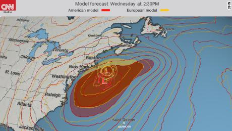Here Are The 2 Scenarios For Upcoming Noreaster Cnn Video - Easter-us-map