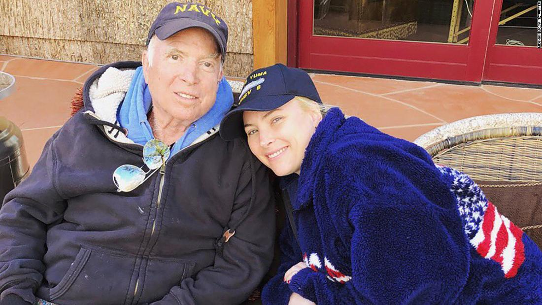 """No place I would rather be,"" Meghan McCain <a href=""https://www.cnn.com/2018/03/19/politics/john-mccain-meghan-mccain-health-cancer-tweet/index.html"" target=""_blank"">tweeted with this photo of her and her father in March 2018.</a> Since leaving Washington in December, McCain has been recovering from cancer treatment in Arizona."