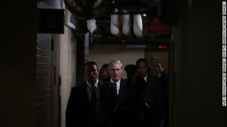 WASHINGTON, DC - JUNE 21:  Special counsel Robert Mueller (C) leaves after a closed meeting with members of the Senate Judiciary Committee June 21, 2017 at the Capitol in Washington, DC. The committee meets with Mueller to discuss the firing of former FBI Director James Comey.  (Photo by Alex Wong/Getty Images)