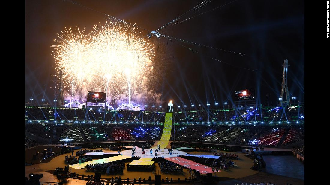 "Fireworks erupt Sunday, March 18, during the closing ceremony of the Winter Paralympic Games, which like the Olympics were held in Pyeongchang, South Korea, this year. <a href=""http://www.cnn.com/2018/03/12/sport/gallery/what-a-shot-sports-0313/index.html"" target=""_blank"">See 23 amazing sports photos from last week</a>"