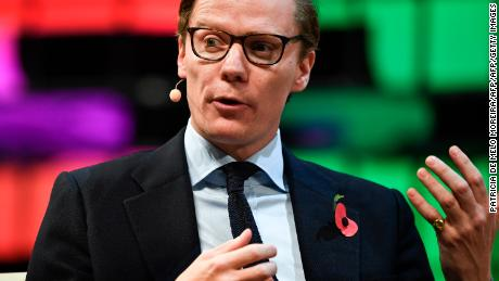 Cambridge Analytica's chief executive officer Alexander Nix gives an interview during the 2017 Web Summit in Lisbon on November 9, 2017. 