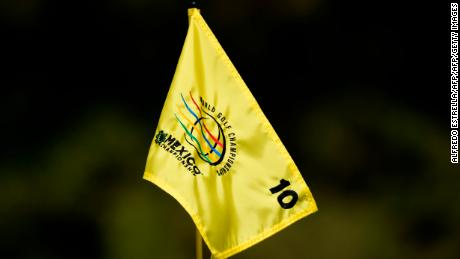 View of a flag at the tenth green, during the second round of the World Golf Championship in Mexico City, on March 2, 2018. / AFP PHOTO / ALFREDO ESTRELLA        (Photo credit should read ALFREDO ESTRELLA/AFP/Getty Images)