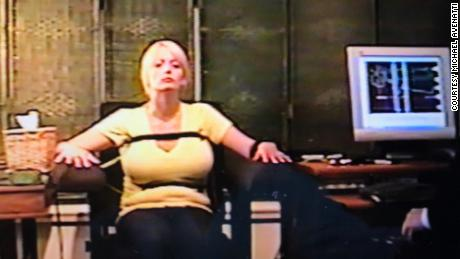 Stormy Daniels taking a polygraph exam in 2011.