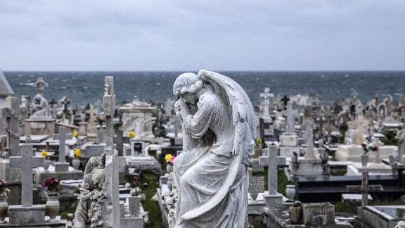 "SAN JUAN, PUERTO RICO - SEPTEMBER 19:  The Santa Mara Magdalena de Pazzis Cemetery as residents prepare for a direct hit from Hurricane Maria on September 19, 2017 in San Juan, Puerto Rico. Puerto Rico Gov. Ricardo Rossello is saying Maria could be the ""most catastrophic hurricane to hit"" the U.S. territory in a century. (Photo by Alex Wroblewski/Getty Images)"
