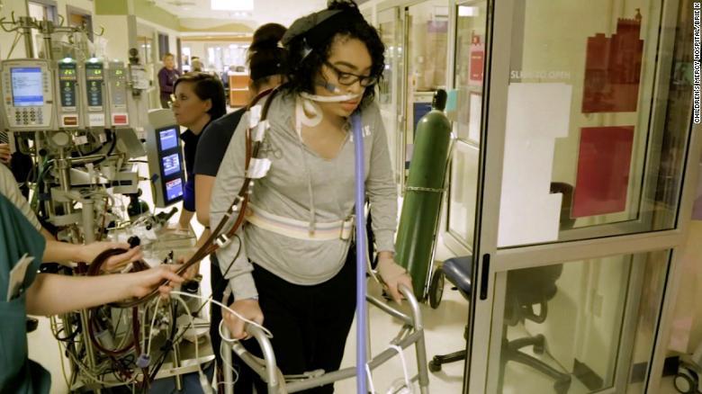 b23ac1b17b4 Teen with mystery illness walks while on life support - CNN