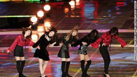 Red Velvet perform on stage during the G-100 Dream Concert on November 4, 2017 in Pyeongchang-gun, South Korea.