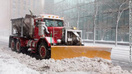 BOSTON, MA - MARCH 13:  A snow plow clears a road as Winter Storm Skylar bears down on March 13, 2018 in Boston, Massachusetts.This is the third nor'easter to hit the area in less than two weeks. (Photo by Scott Eisen/Getty Images)