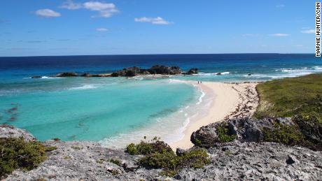 The unspoiled Caribbean at Mudjin Harbor Beach