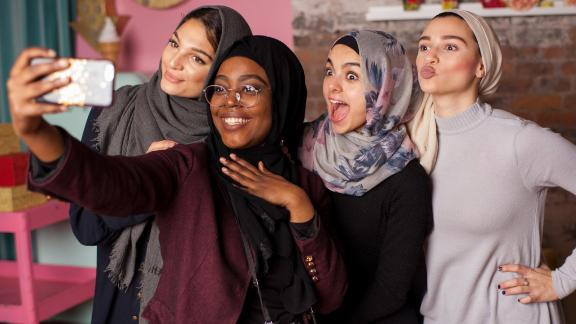 """We created stock photos of Muslim women that are shot by Muslim women, led by Muslim women, and the models are Muslim women,"" Al-Khatahtbeh told CNN."
