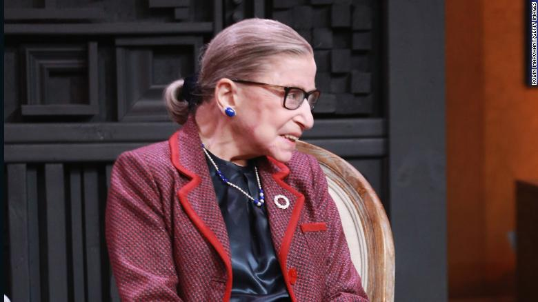 Associate Justice Of The Supreme Court Of The United States Ruth Bader Ginsburg Speaks With Nina
