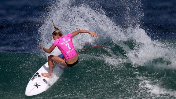 Lakey Peterson of the United States surfs during Round 1 Heats at the Oi Rio Pro on May 12, 2015 in Rio de Janeiro, Brazil.