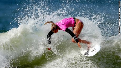 Lakey Peterson of the United States surfs during the Round 3 of the Oi Rio Pro on May 16, 2015 in Rio de Janeiro, Brazil.