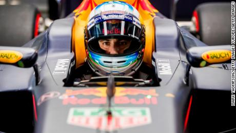 MONTMELO, SPAIN - MARCH 12:  Daniel Ricciardo of Australia and Red Bull Racing sits in his car in the garage during Formula One winter testing at Circuit de Catalunya on March 12, 2017 in Montmelo, Spain.  (Photo by Mark Thompson/Getty Images)