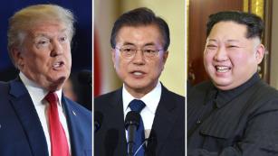 South Korean President Moon hints at three-way US, North Korea talks