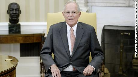 WASHINGTON, DC - FEBRUARY 24: (AFP OUT) President Pedro Pablo Kuczynski of Peru looks on during a meeting with U.S. President Donald Trump (not pictured) in the Oval Office of the White House on February 24, 2017 in Washington, DC. (Photo by Olivier Douliery - Pool/Getty Images)