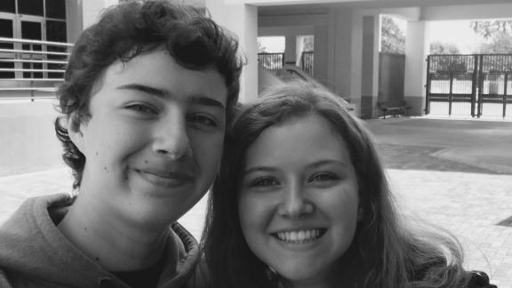 Marjory Stoneman Douglas student Jack Macleod and his sister at the school.