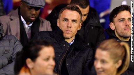 Phil Neville, who made 386 appearances for United, is the manager of England's senior women's team.