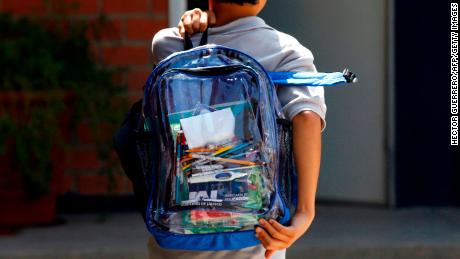 Marjory Stoneman Douglas requires students to wear only clear backpacks