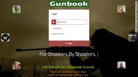 Gunbook, the social network launched by David Scott