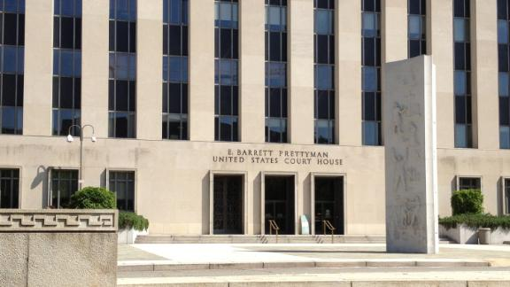 The U.S. Court of Appeals for the D.C. Circuit, the E. Barrett Prettyman building - United States Courthouse, April 26, 2013, in Washington D.C.