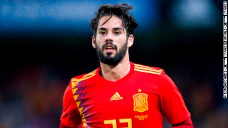MALAGA, SPAIN - NOVEMBER 11: Isco Alarcon of Spain reacts during the international friendly match between Spain and Costa Rica at La Rosaleda Stadium on November 11, 2017 in Malaga, Spain. (Photo by Aitor Alcalde/Getty Images)