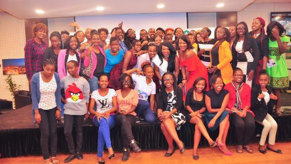 African Women in Technology meetup in Kenya, 2017.