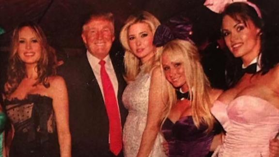 Karen McDougal is on the far right.