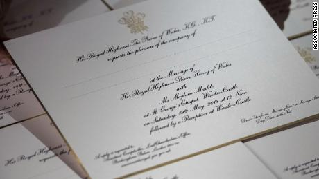 See royal wedding invitations embossed in gold cnn video royal wedding invitation stopboris Image collections